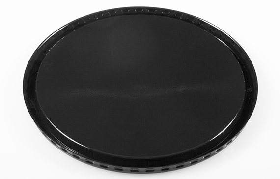 "7"" Round Flat Raised Base/Lid"