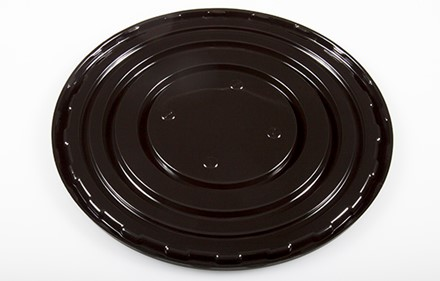 "10"" Round Black Decorated Base"