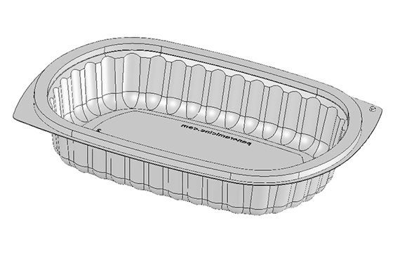 Oval Tray Series-96 24oz. Ribbed
