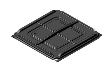 "7.5"" Square Black 4ct Dividers 204-150181"