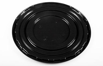 "10"" Round Black Label Decorated Base"